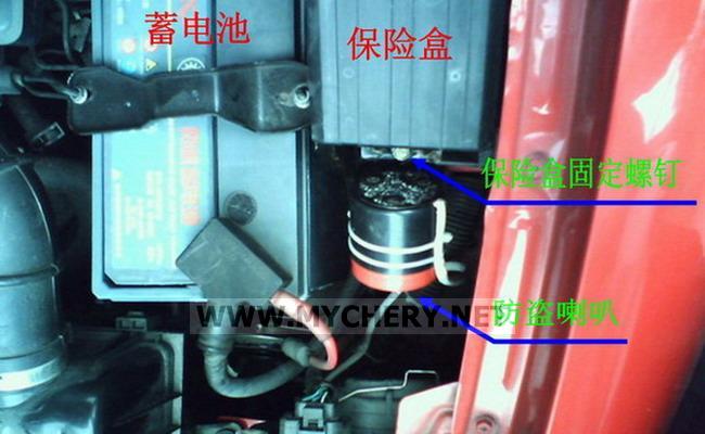 成口口作业一 QQ308舒适型防盗喇叭的安装高清图片