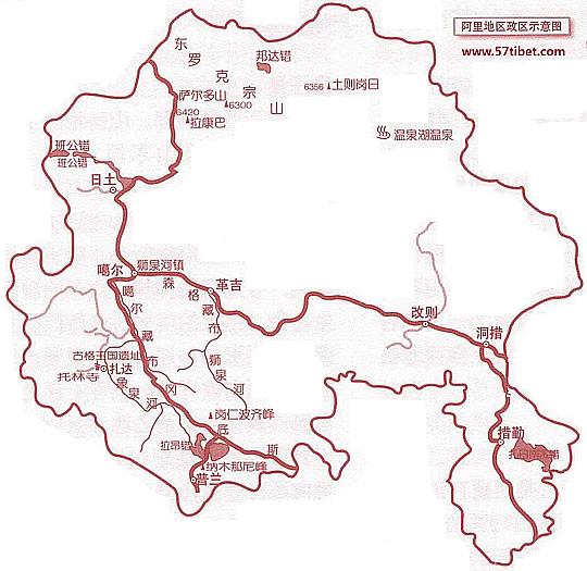 丽江旅游地图手绘